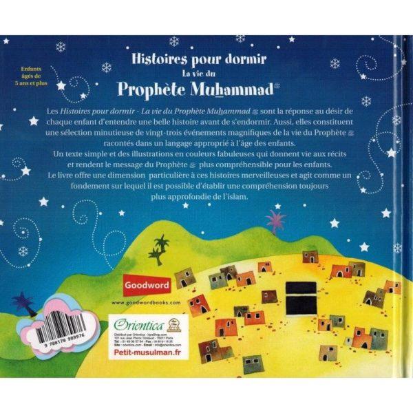 HISTOIRES POUR DORMIR - LA VIE DU PROPHÈTE MUHAMMAD - SANIYASNAIN KHAN - ORIENTICA verso