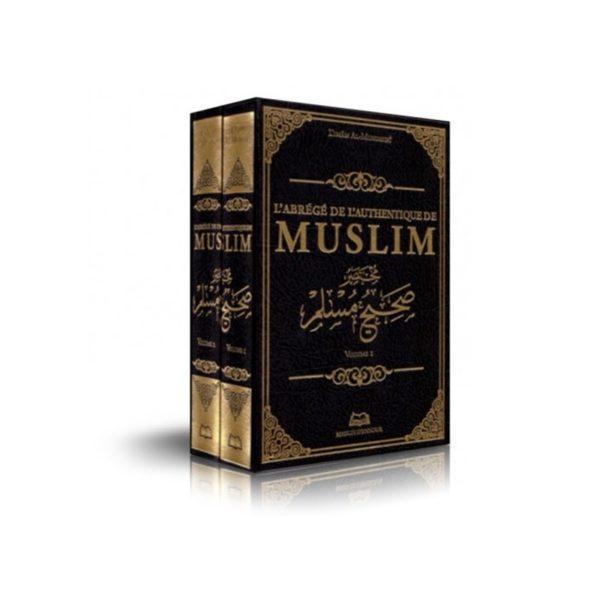 l-abrege-de-l-authentique-de-muslim-de-l-imam-al-mundhiri-2-volumes-bilingue-maison-d-ennour
